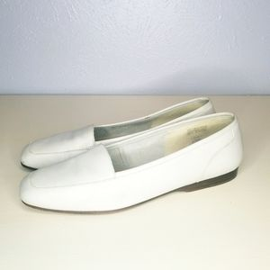 Enzo Angiolini white leather Liberty loafer flats